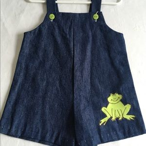 Other - 12 Month Sized Froggy Overalls Handmade